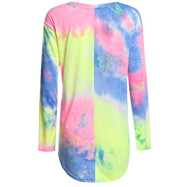 ROMWE Graphic Tshirt 2 Women's Loose Long Sleeve Comfy Swing Tunic Top Blouse T-Shirt Tee Tshirt