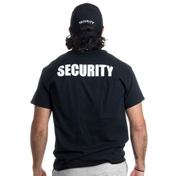 Ann Arbor T-shirt Co. Graphic Tshirt 3 Security Hat & T-Shirt Bundle | Matching Security Guard Officer Uniform Kit