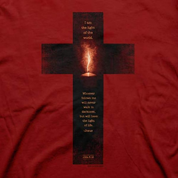 Kerusso Graphic Tshirt 2 Men's Light of The World Cross T-Shirt - Cardinal -