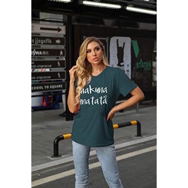 DUTUT Graphic Tshirt 2 Hakuna Matata T Shirts Women Funny Letter Print Short Sleeve Casual Loose Graphic Tee Tops