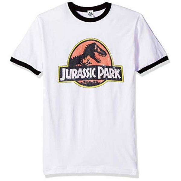 Jurassic Park Graphic Tshirt 1 Officially Licensed Park Logo Men's Tee