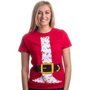 Ann Arbor T-shirt Co. Graphic Tshirt 1 Santa Claus Costume | Jumbo Print Novelty Christmas Holiday Humor Ladies T-Shirt
