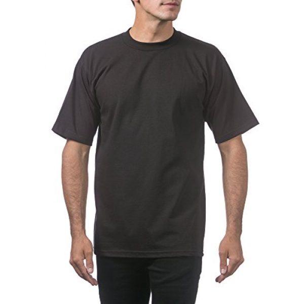 Pro Club Graphic Tshirt 6 Men's 6-Pack Heavyweight Cotton Short Sleeve Crew Neck T-Shirt
