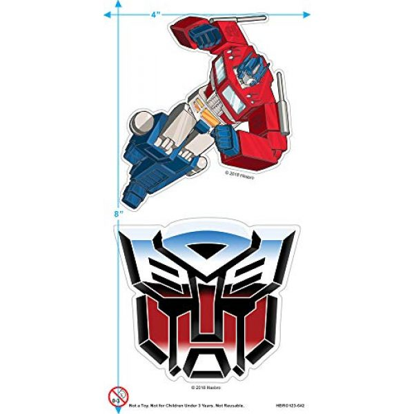 Popfunk Graphic Tshirt 3 Transformers Autobot Airbrush Logo T Shirt & Stickers