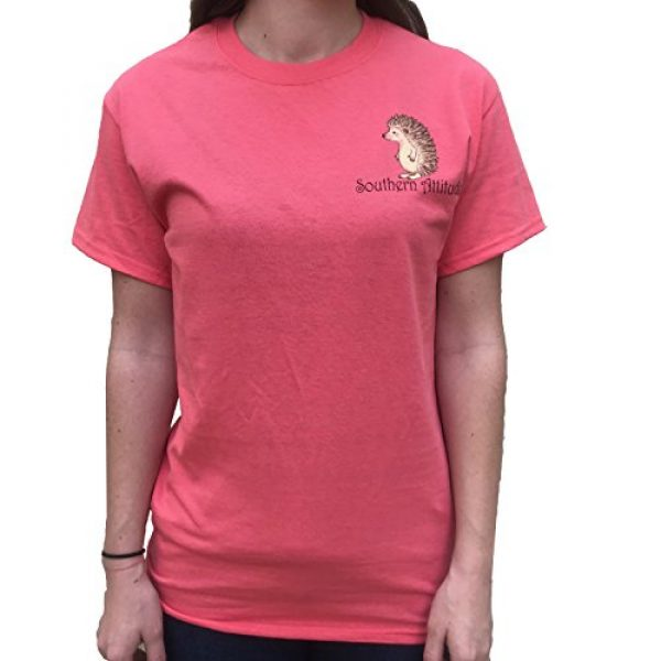 Southern Attitude Graphic Tshirt 2 Hedgehog Classy But Rough Around The Edges Coral Women's Short Sleeve T-Shirt