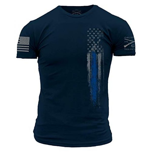 Grunt Style Graphic Tshirt 1 Blue Line Flag T-Shirt