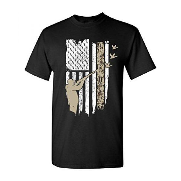 City Shirts Graphic Tshirt 1 Hunting Flag Gun Rifle Hunt Duck American Flag USA Adult DT T-Shirt Tee