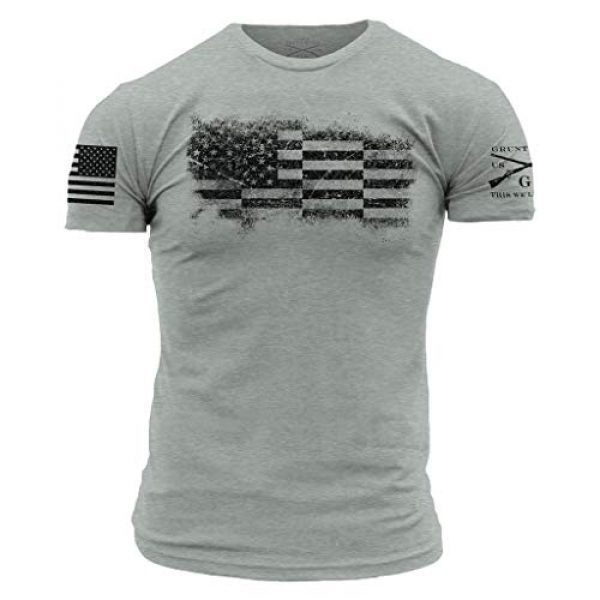 Grunt Style Graphic Tshirt 1 Bar Flag Men's T-Shirt