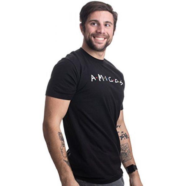 Ann Arbor T-shirt Co. Graphic Tshirt 4 Amigos | Funny 90s TV Pop Culture Friends Humor, Silly Retro Men Women T-Shirt