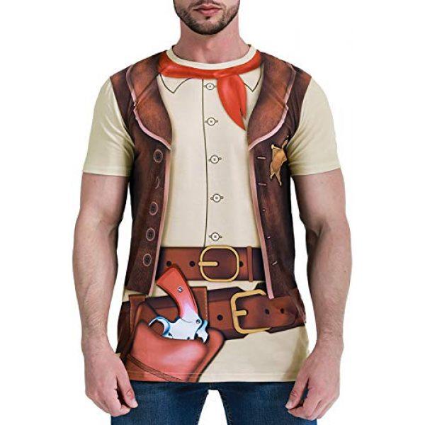 Funny World Graphic Tshirt 1 Men's Western Cowboy Costume T-Shirts