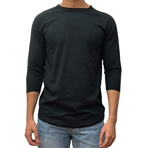 Kangora Graphic Tshirt 1 Mens Plain Raglan Baseball Tee T-Shirt Unisex 3/4 Sleeve Casual Athletic Performance Jersey Shirt