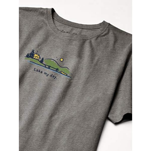 Life is Good Graphic Tshirt 3 Unisex-Adult Vintage Crusher Outdoor Graphic T-Shirt