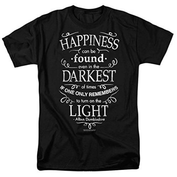 Popfunk Graphic Tshirt 1 Harry Potter Dumbledore Happiness Quote T Shirt & Stickers