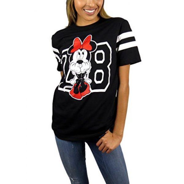 Disney Graphic Tshirt 2 Womens Minnie Mouse Varsity Football Tee