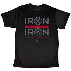 Kerusso Graphic Tshirt 1 Men's Iron Sharpens Iron T-Shirt - Black -