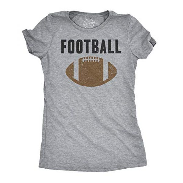 Crazy Dog T-Shirts Graphic Tshirt 1 Womens Vintage Football T Shirt Funny Sunday Game Day Tee for Ladies Graphci