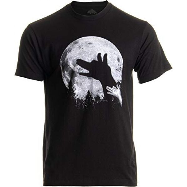 Ann Arbor T-shirt Co. Graphic Tshirt 1 Wolf Shadow Puppet | Unique Moon Outdoor Hike Camp Funny Fun Men Women T-Shirt