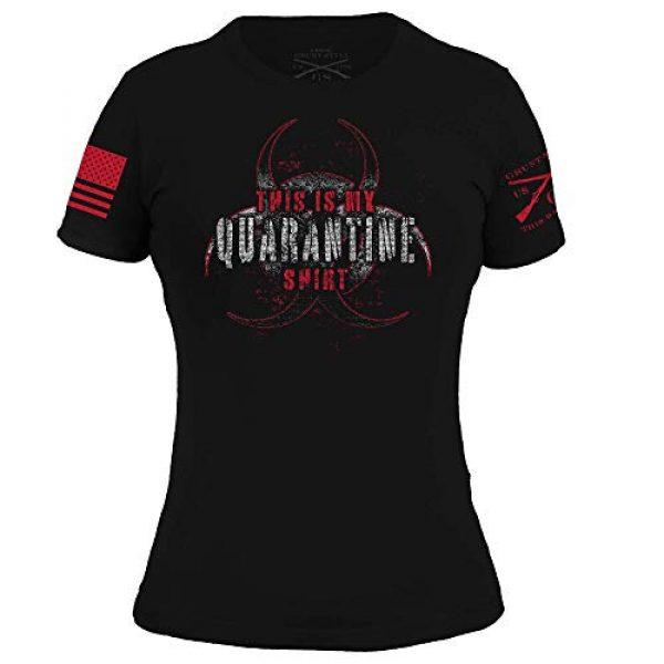 Grunt Style Graphic Tshirt 1 This is My Quarantine Shirt - Women's T-Shirt (Black)