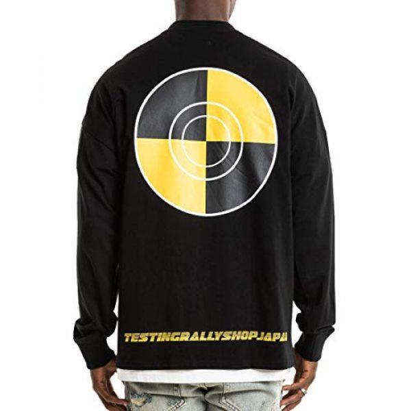 NAGRI Graphic Tshirt 2 ASAP Rocky Testing Long Sleeve Tshirt Injured Generation Tour Hip Hop Letter Printed Graphic Hoodie Black