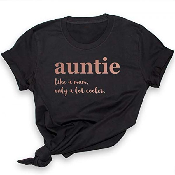 Purple Print House Graphic Tshirt 1 Aunt Shirt, Rose Gold Auntie Shirt for Women, Aunt Gifts from Niece, Funny Tshirts, Shirts top Novelty t Shirt