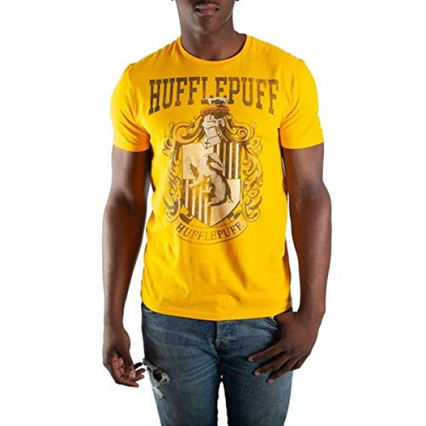 Harry Potter Graphic Tshirt 1 Hufflepuff House Crest Mens Yellow Hogwarts T-Shirt
