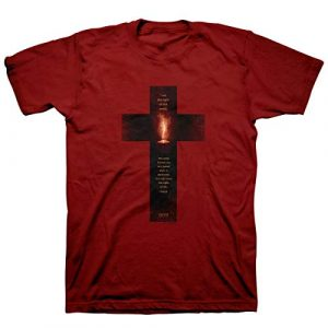 Kerusso Graphic Tshirt 1 Men's Light of The World Cross T-Shirt - Cardinal -
