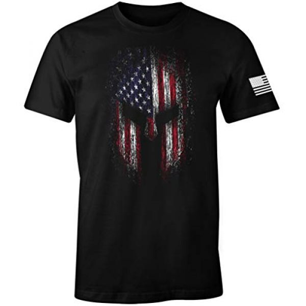 Fantastic Tees Graphic Tshirt 1 USA Flag American Spartan Patriotic Men's T Shirt