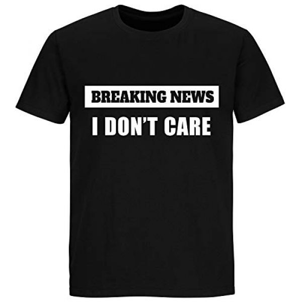 Greenmill Apparel Graphic Tshirt 2 Breaking News I Don't Care Tshirt - Funny Shirt Unisex Mens Womens T Shirt - Sarcastic Novelty Tee Christmas