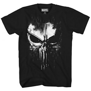 Marvel Graphic Tshirt 1 The Punisher Dirty Skull Vest Logo Adult T-Shirt