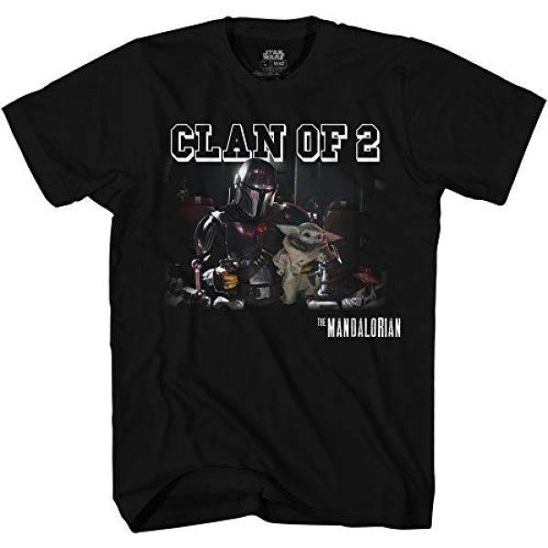 Star Wars Graphic Tshirt 1 Mando Holding Baby Yoda Clan of 2 Men's Adult Graphic Tee T-Shirt