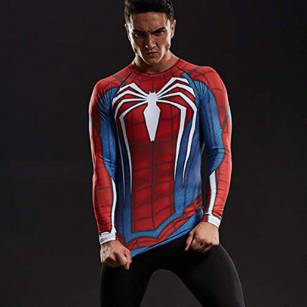 COOLMAX Graphic Tshirt 5 Raglan Sleeve Spiderman 3D Printed T Shirts Men Compression Shirts