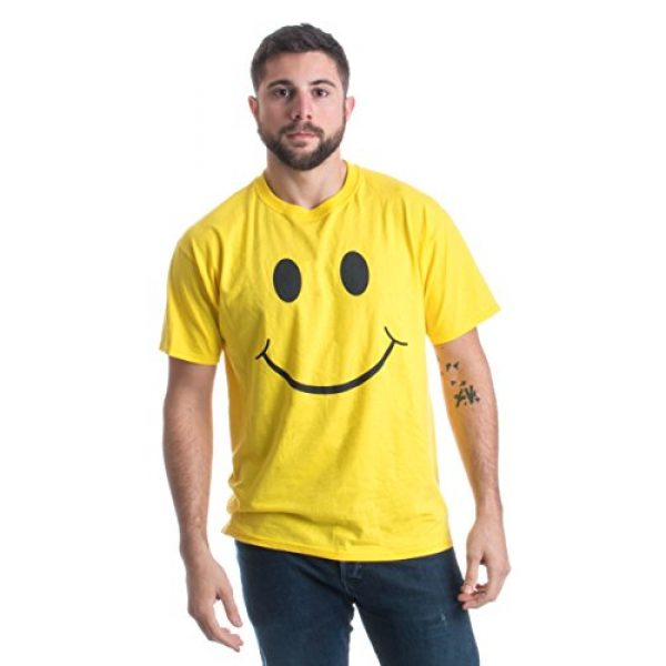 Ann Arbor T-shirt Co. Graphic Tshirt 3 Smiling Face   Cute, Positive, Happy Smile Fun Teacher T-Shirt for Men or Women