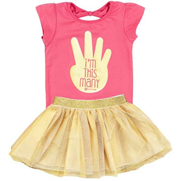 Fayfaire Graphic Tshirt 1 4th Birthday Shirt Outfit: Boutique Quality Fourth Bday Im This Many 4T