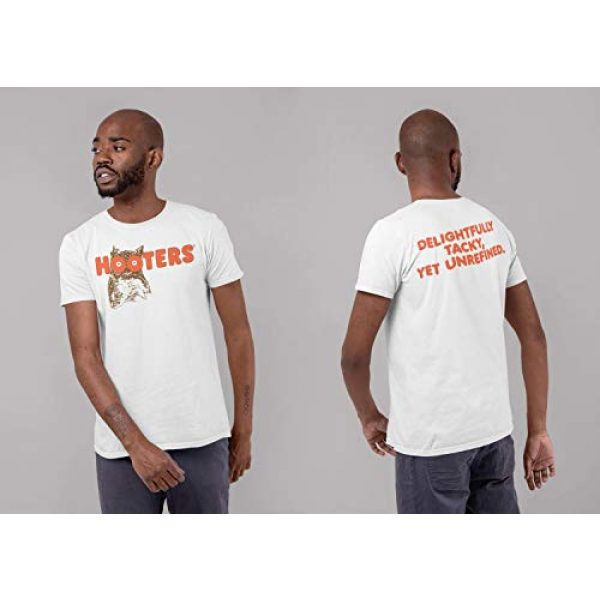 Ripple Junction Graphic Tshirt 4 Hooters Throwback Logo Adult T-Shirt