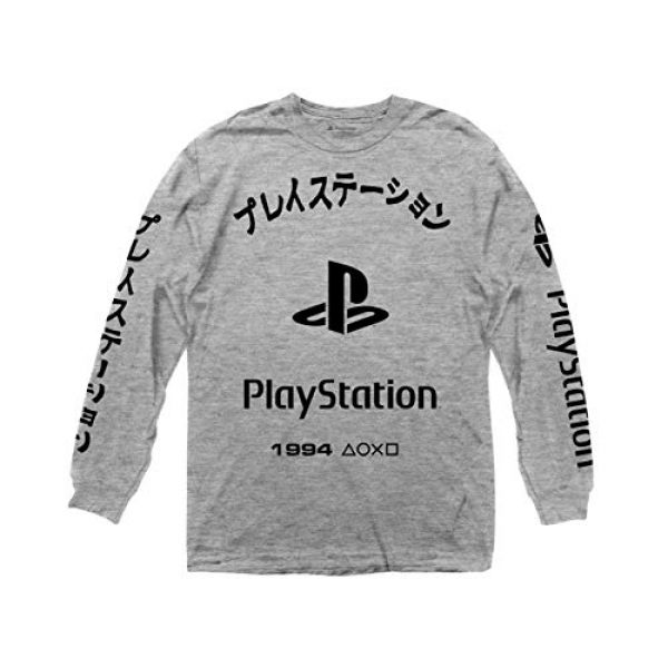 Ripple Junction Graphic Tshirt 1 Playstation Arched Kanji with Logo Long Sleeve Crew T-Shirt