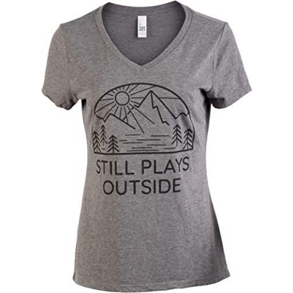 Ann Arbor T-shirt Co. Graphic Tshirt 1 Still Plays Outside | Funny Cool Camping Hiking Camp Hike Women Outdoors Shirt Top