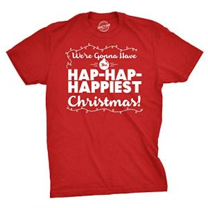 Crazy Dog T-Shirts Graphic Tshirt 1 Mens Hap Hap Happiest Christmas Graphic Novelty Sarcastic Xmas T Shirt