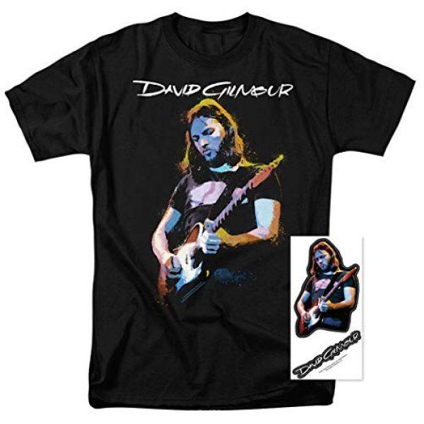 Popfunk Graphic Tshirt 2 David Gilmour Pink Floyd Guitar T Shirt & Stickers
