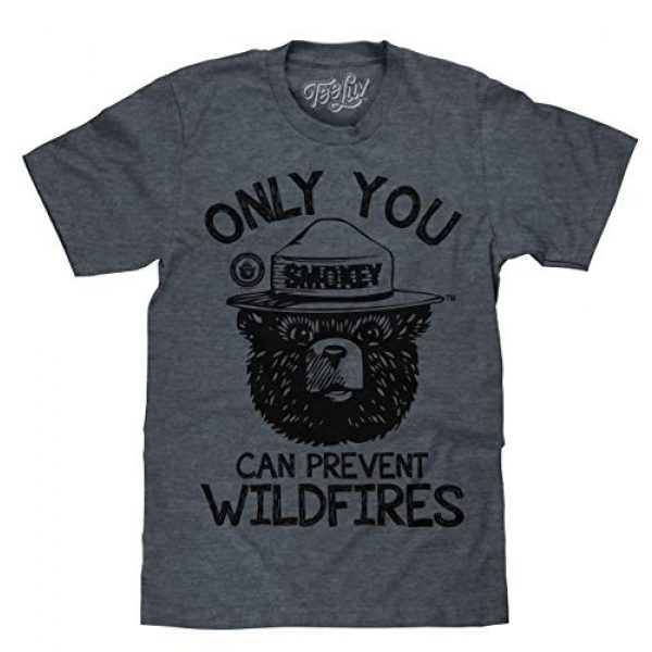 Tee Luv Graphic Tshirt 1 Smokey Bear T-Shirt - Only You Can Prevent Wildfires Graphic Tee