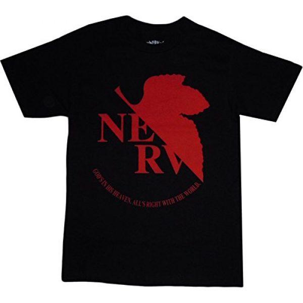 Neon Genesis Evangelion Graphic Tshirt 1 NERV Logo Black T-Shirt