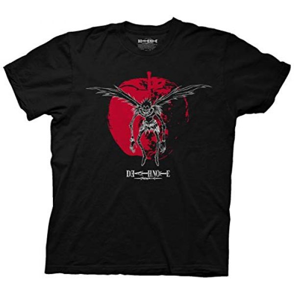 Ripple Junction Graphic Tshirt 1 Death Note Adult Inverted Linear Ryuk on Apple Light Weight 100% Cotton Crew T-Shirt