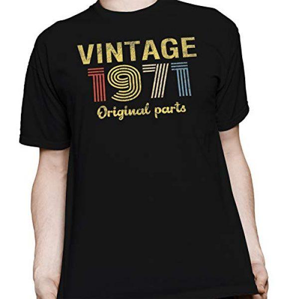 ShirtInvaders Graphic Tshirt 4 50th Birthday Gift Shirt - Retro Birthday - Vintage 1971 Original Parts