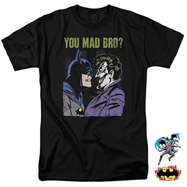 Popfunk Graphic Tshirt 2 Batman Vs.The Joker You Mad Bro T Shirt and Stickers