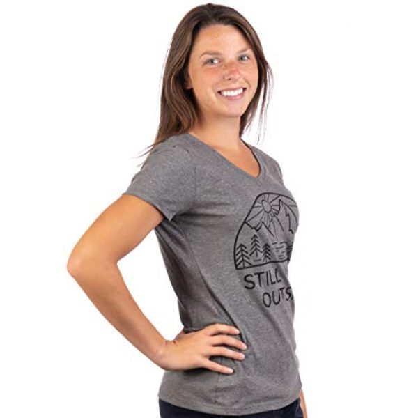 Ann Arbor T-shirt Co. Graphic Tshirt 3 Still Plays Outside | Funny Cool Camping Hiking Camp Hike Women Outdoors Shirt Top