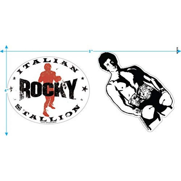Popfunk Graphic Tshirt 3 Rocky Movie Sylverster Stallone American Flag T Shirt & Stickers