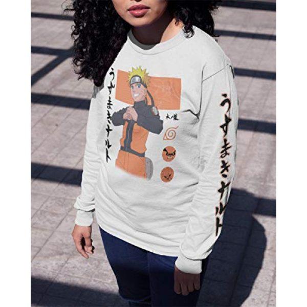 Ripple Junction Graphic Tshirt 4 Naruto Shippuden Adult Unisex Naruto Block Symbols Light Weight 100% Cotton Long Sleeve Crew T-Shirt