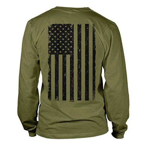 Tcombo Graphic Tshirt 1 Distressed Black USA Flag - United States Unisex Long Sleeve Shirt