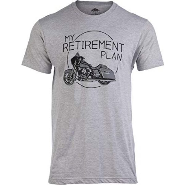 Ann Arbor T-shirt Co. Graphic Tshirt 1 My Retirement Plan (Motorcycle) | Funny Biker Riding Rider Retired Man T-Shirt