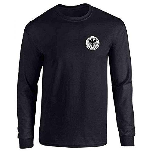 Pop Threads Graphic Tshirt 1 Germany Soccer Futbol Retro Vintage National Team Full Long Sleeve Tee T-Shirt
