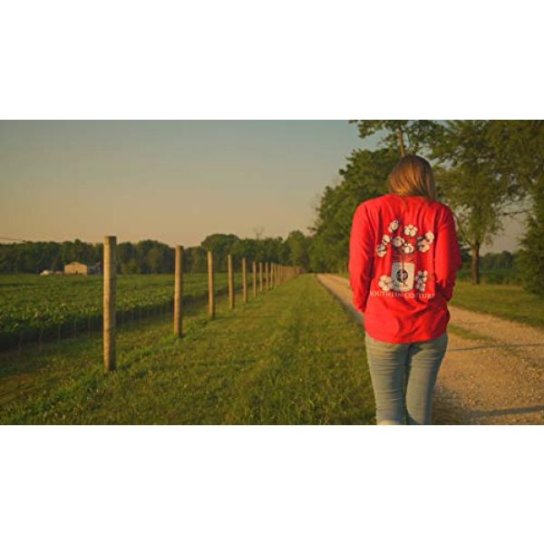 Southern Couture Graphic Tshirt 5 SC Comfort Mason Jar Cotton on Long Sleeve Womens Fit Shirt - Red